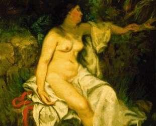 Купальщица, спящая у ручья — Гюстав Курбе