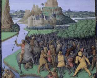 Battle between the Maccabees and the Bacchides — Жан Фуке