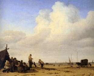 Beach scene — Адриан ван де Вельде