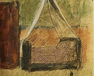 Bed with mosquito nets — Пабло Пикассо