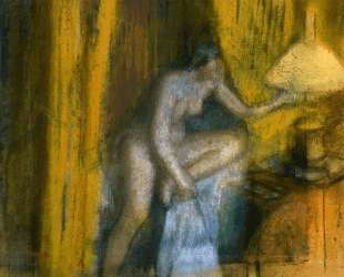 Пора спать (Женщина гасит лампу) — Эдгар Дега