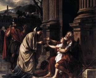 Велизарий, просящий подаяние — Жак Луи Давид