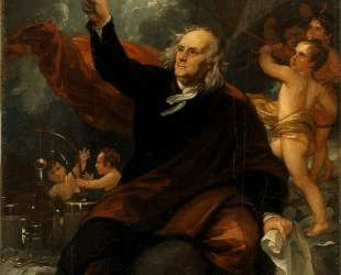 Benjamin Franklin Drawing Electricity from the Sky — Бенджамин Уэст