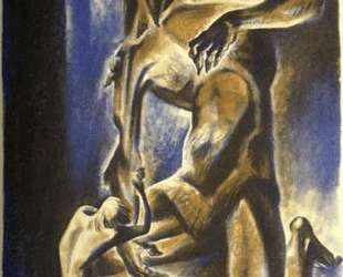 Beowulf wrestles with Grendel — Линд Уорд