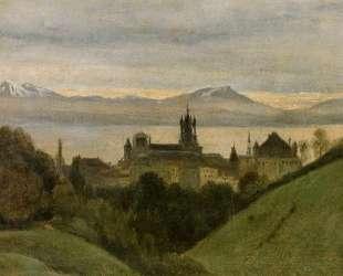 Между Женевским озером и Альпами — Камиль Коро