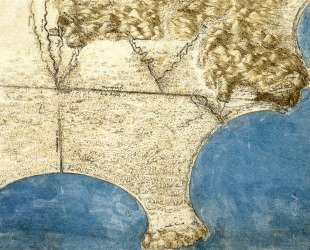 Bird's eye view of sea coast — Леонардо да Винчи