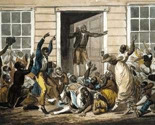 Black Methodists Holding a Prayer Meeting — Павел Свиньин