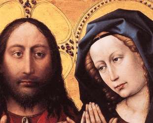 Blessing Christ and Praying Virgin — Робер Кампен