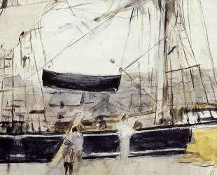 Boat on the Quay — Берта Моризо