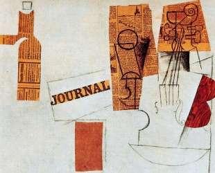 Bottle, glass, violin — Пабло Пикассо