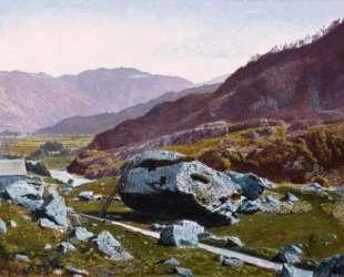 Bowder Stone, Borrowdale — Джон Эткинсон Гримшоу