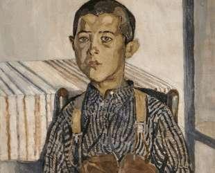 Boy wearing suspenders — Спирос Папалукас