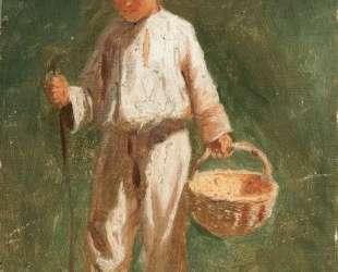 Boy with a basket — Николай Пимоненко