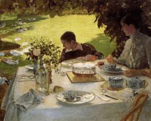 Breakfast in the Garden — Джузеппе Де Ниттис