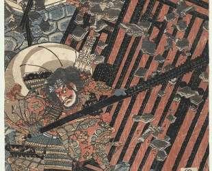 Breaking down a Castle Gate — Утагава Садатора