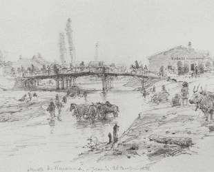 Мост через реку Чуприя в Парачине — Василий Поленов