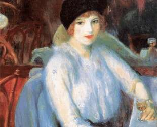 Cafe Lafayette (Portrait of Kay Laurel) — Уильям Джеймс Глакенс