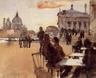 Cafe on the Riva degli Schiavoni — Джон Сингер Сарджент