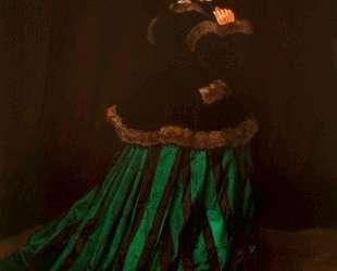Камилла (Женщина в зелёном платье) — Клод Моне