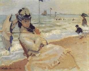 Камилла на побережье вТрувиле — Клод Моне
