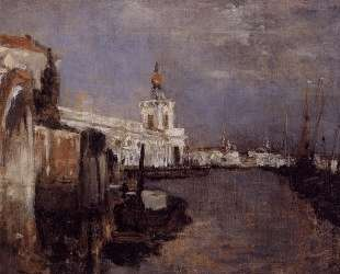 Canal, Venice — Джон Генри Твахтман (Tуоктмен)