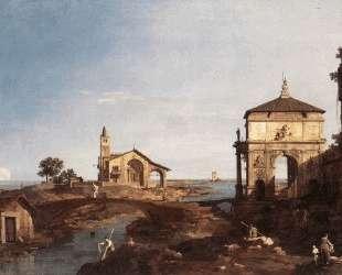 Capriccio with Venetian Motifs — Франческо Гварди