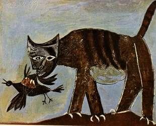 Cat catching a bird — Пабло Пикассо
