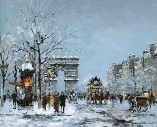 Champs Elysees, Winter — Антуан Бланшар