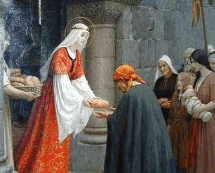 Charity of St. Elizabeth of Hungary — Фредерик Лейтон