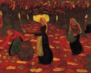 Chestnut Gatherers — Жорж Лякомб
