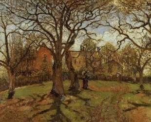 Chestnut Trees, Louveciennes, Spring — Камиль Писсарро