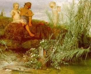 Children carving may flutes — Арнольд Бёклин