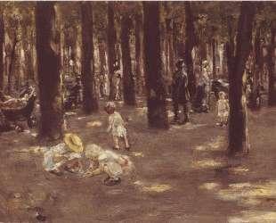 Children's playground in Tiergarten park in Berlin — Макс Либерман