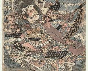 Chinzei Hachiro Tametomo Firing an Arrow — Утагава Садатора