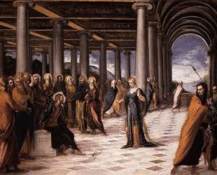 Christ and the Woman Taken in Adultery — Тинторетто