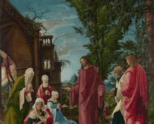 Христос покидает мать — Альбрехт Альтдорфер