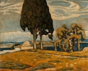 Church with trees — Константин Малеас