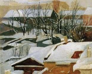 Городские крыши зимой — Иван Шишкин