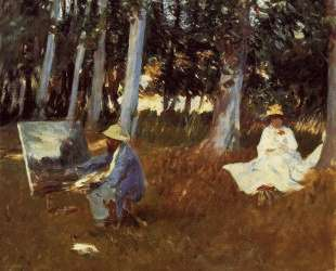 Claude Monet Painting by the Edge of a Wood — Джон Сингер Сарджент