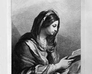 Woman Reading (half length) by Guercino — Джованни Баттиста Пиранези