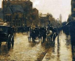 Columbus Avenue Rainy Day — Чайльд Гассам