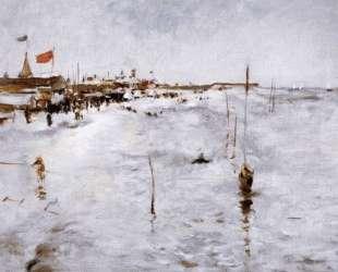 Coney Island From Brighton Pier — Джон Генри Твахтман (Tуоктмен)