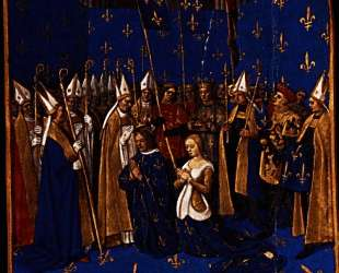 Coronation of Louis VIII and Blanche of Castile at Reims — Жан Фуке