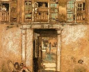 Courtyard and Canal — Джеймс Эббот Макнил Уистлер