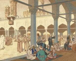 Двор мечети Ал-Азар и университетский комплекс Каира — Иван Билибин