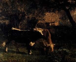 Cows at the Watering — Констан Труайон