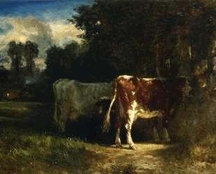 Cows in a Landscape — Констан Труайон