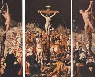 Crucifixion (Triptych) — Мартен ван Хемскерк