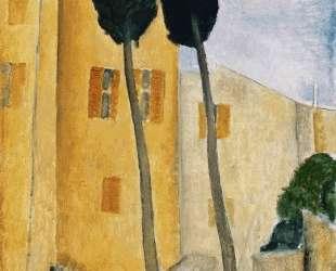 Деревья и дом на Кипре — Амедео Модильяни