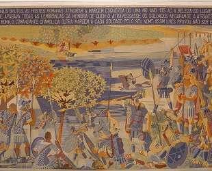 Decimus Iunius Brutus near river Lima, tapestry — Хосе де Альмада Негрейрос